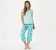 AnyBody Loungewear Cozy Knit Fruit Slice Printed PJ - A353790