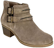 White Mountain Suede Leather Booties - Utterly - A360590
