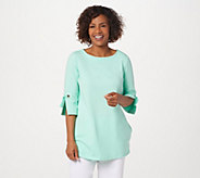 Denim & Co. Active French Terry Tunic with Grommet Detail - A365290