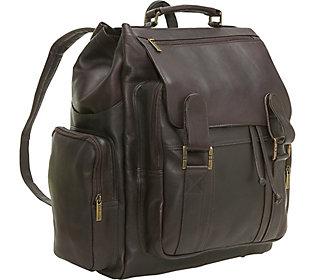 Le Donne Leather Large Traveler Backpack
