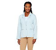 Liz Claiborne New York Denim Blazer with Pockets - A262191