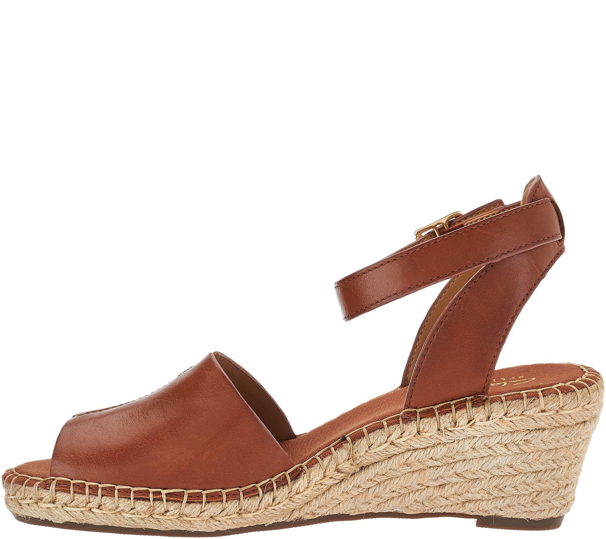065068c4b61 Clarks Artisan Leather Espadrille Wedge Sandals - Petrina Selma - Page 1 —  QVC.com