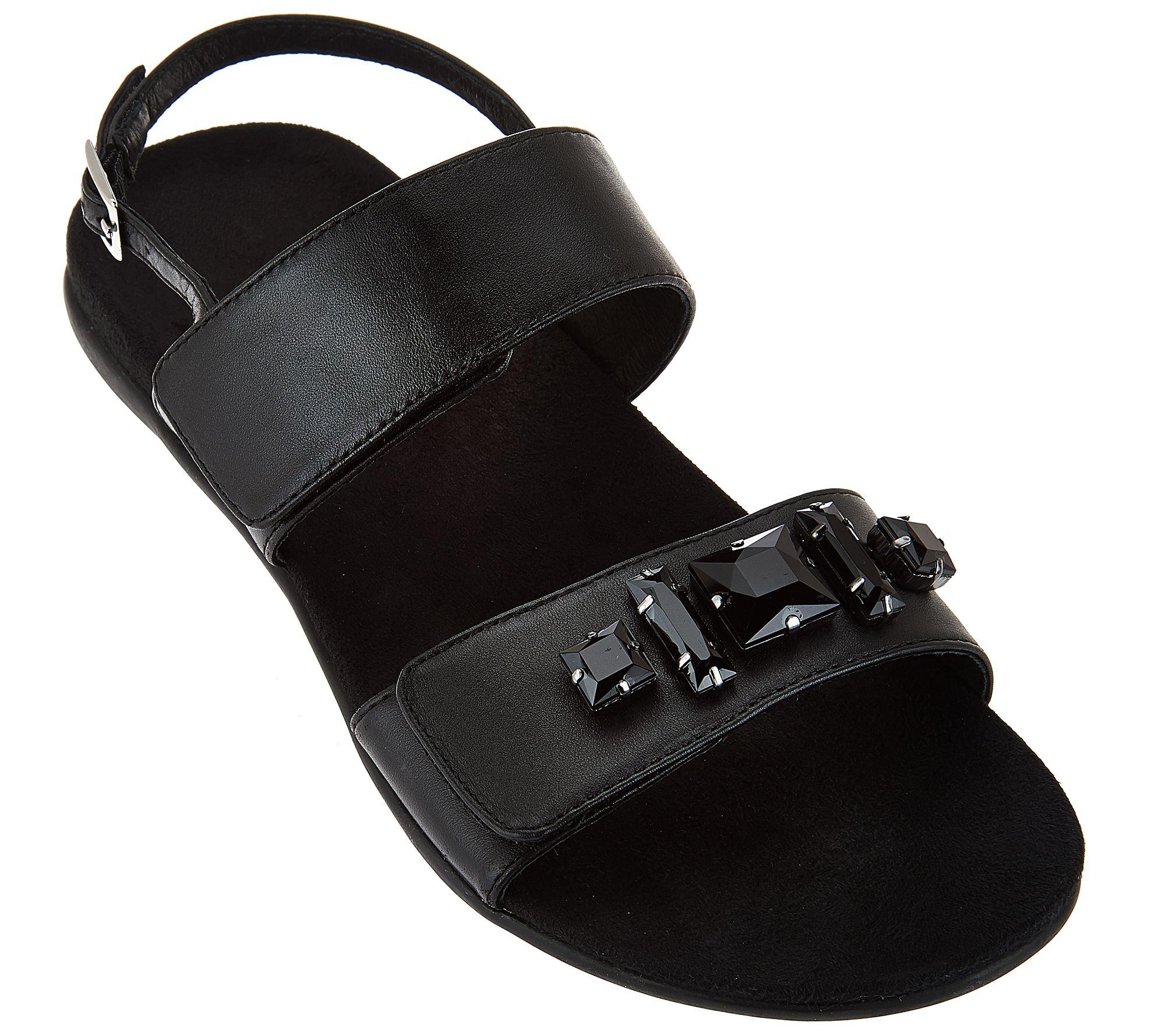 bda3d7f0fa86 Vionic Orthotic Leather Embellished Sandals - Dupre - Page 1 — QVC.com