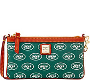 Dooney & Bourke NFL Jets Large Slim Wristlet - A285791