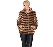 Dennis Basso Platinum Collection Faux Fur Cropped Jacket - A287491