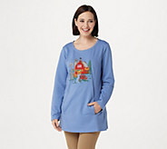 Quacker Factory Autumn Harvest Long Sleeve French Terry Tunic - A292691