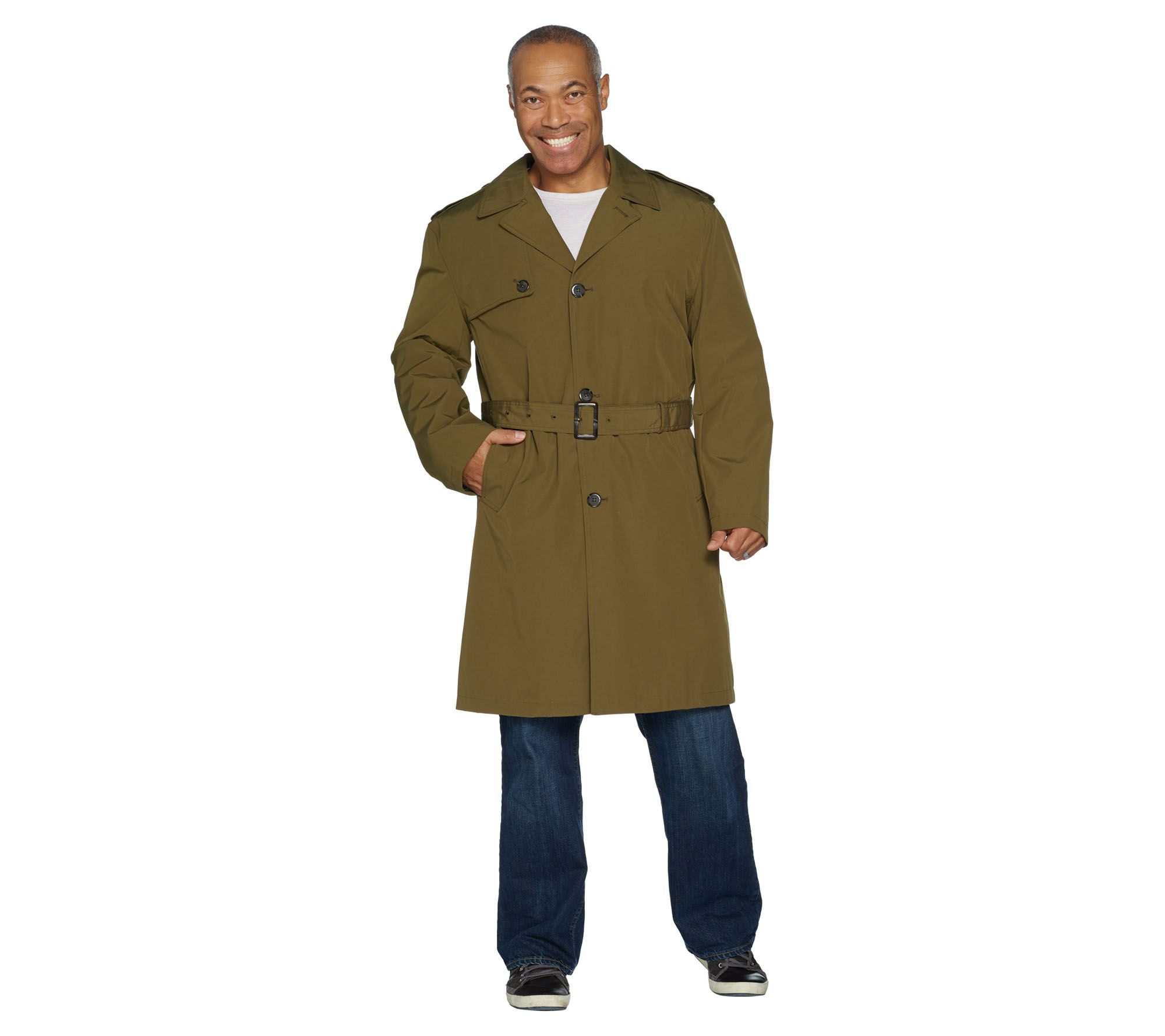 b605cf28833 London Fog Men s Water Resistant Trench Coat — QVC.com