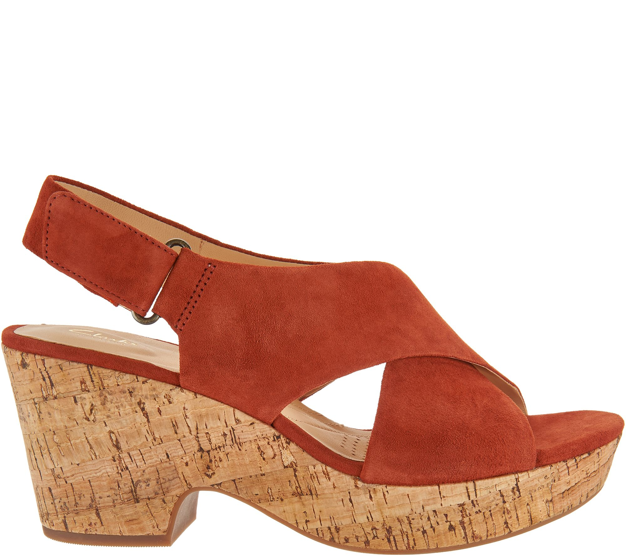5f8c507ede1 Clarks Artisan Leather Adjustable Wedge Sandals - Maritsa Lara - Page 1 —  QVC.com