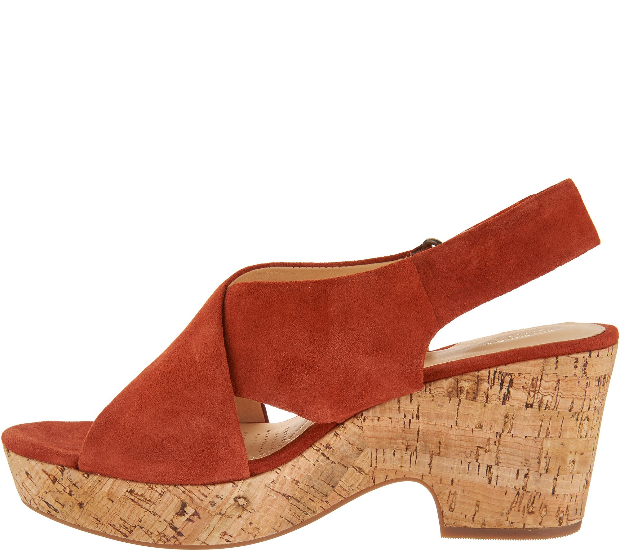 bf22b07d4843 Clarks Artisan Leather Adjustable Wedge Sandals - Maritsa Lara - Page 1 —  QVC.com