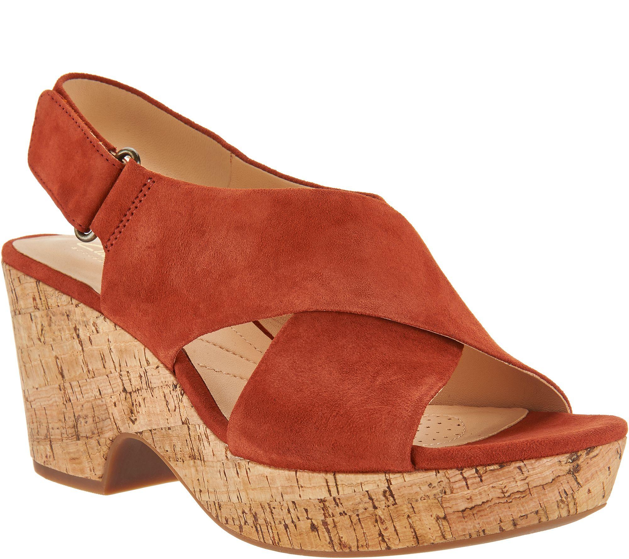 49367ef59338 Clarks Artisan Leather Adjustable Wedge Sandals - Maritsa Lara - Page 1 —  QVC.com