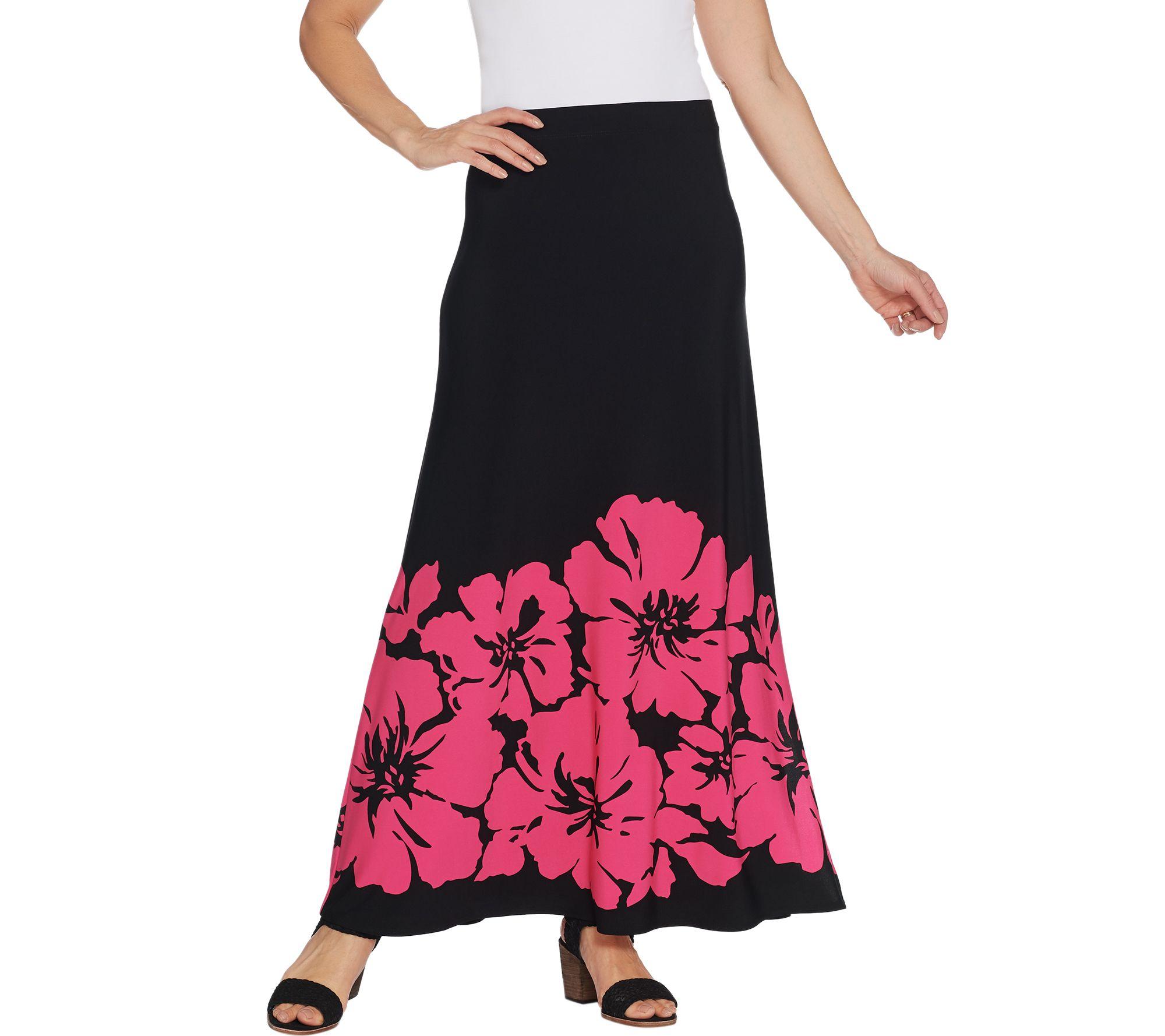3de7615dc1 Susan Graver Printed Liquid Knit Maxi Skirt - Page 1 — QVC.com