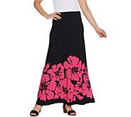 Susan Graver Printed Liquid Knit Maxi Skirt - A304091