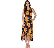 Kelly by Clinton Kelly Regular Knit Maxi Dress w/ Ruffle Hem - A305891