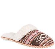 MUK LUKS Womens Fairisle Knit Scuffs - A334591