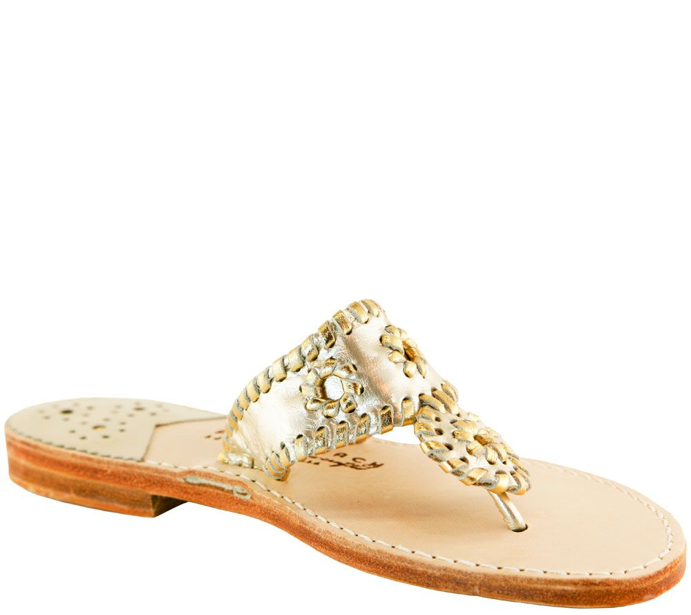 d6991a7aa0a8a7 Palm Beach Leather Thong Sandals - Classic - Page 1 — QVC.com
