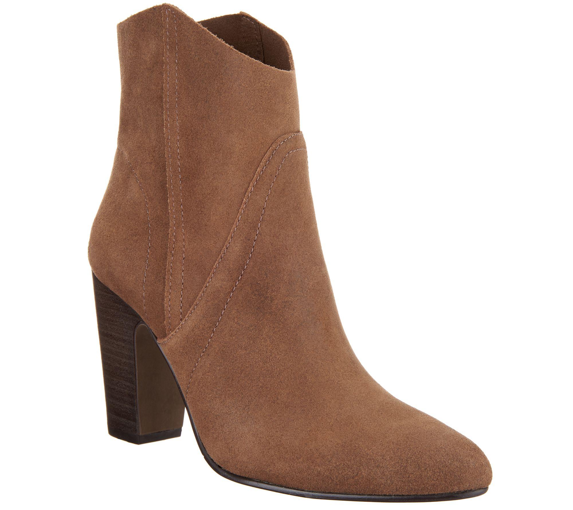 7303f6555c2 Vince Camuto Suede Ankle Boots - Creestal — QVC.com
