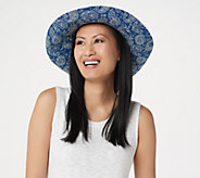 San Diego Hat Co. Sun Brim Hat with Novelty Print - A350891