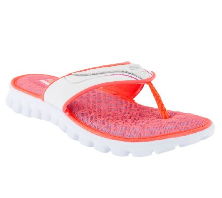 7432d8640e9d03 Skechers EZ Flex Summer Solstice Thong Sandals w  Memory Foam - Page 1 —  QVC.com