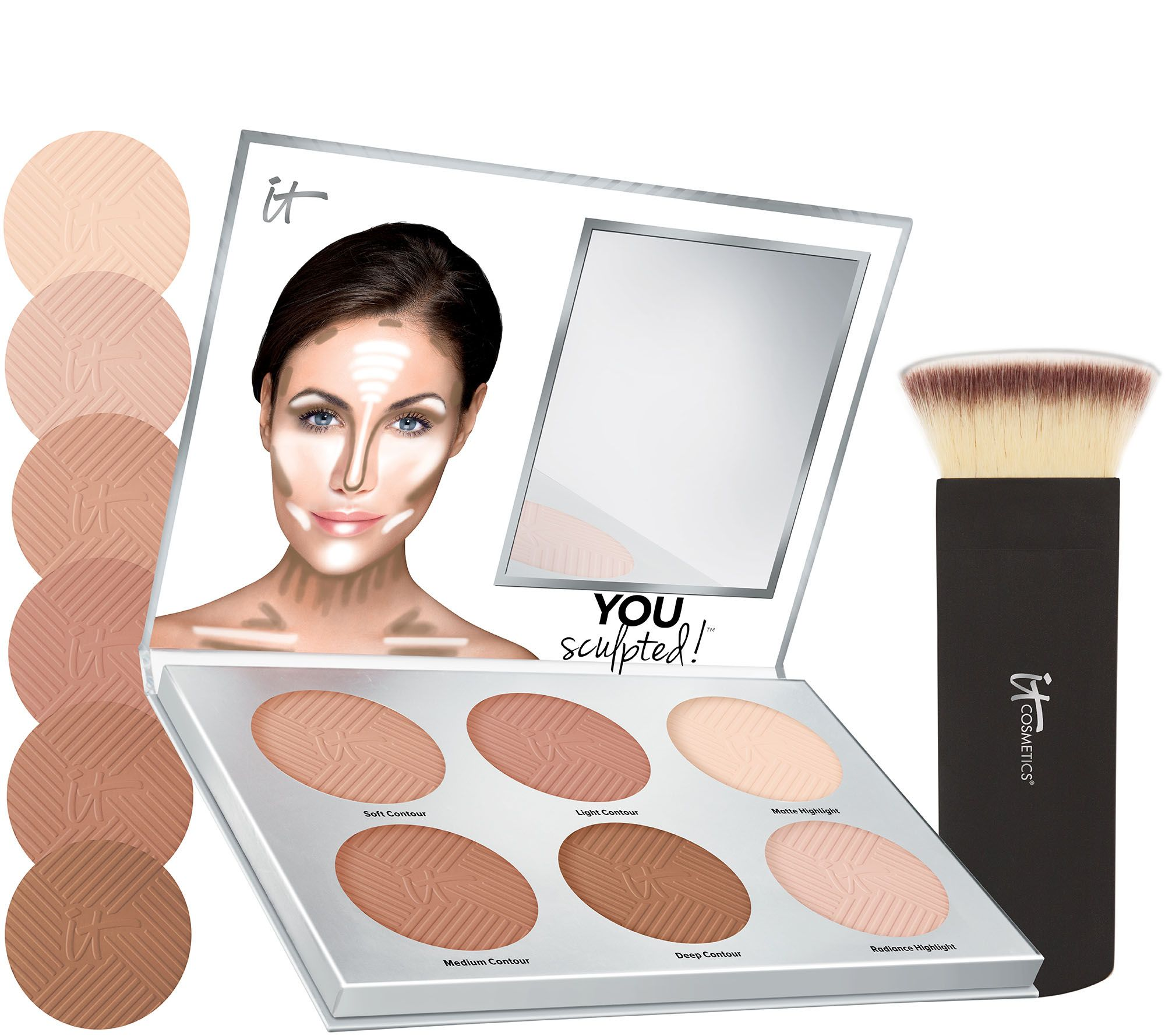 It Cosmetics You Sculpted Universal Contouring Palette W Brush