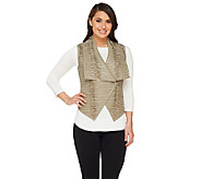 G.I.L.I. Pieced Leather Vest with Hook Closure - A263392