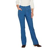 Denim & Co. Perfect Denim Smooth Waist Regular L Pocket Jeans - A269692