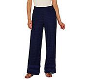Isaac Mizrahi Live! Regular Wide Leg Lace Pull On Pants - A275492