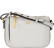 As Is H by Halston Pebble & Smooth Leather Mini Crossbody Bag - A285592