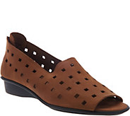 Sesto Meucci Nubuck Leather Open Toe Slip-on Shoes - Evonne - A287592