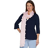 Isaac Mizrahi Live! Special Edition Sheer Shawl w/ Floral Appliques - A302492