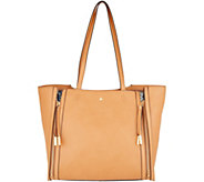 G.I.L.I. Leather Zipped-Up Tote Handbag - A306192