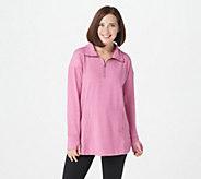 Cuddl Duds Comfortwear Half Zip Pullover - A310292