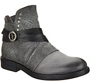 Miz Mooz Leather Strap Ankle Boots - Pixie - A342092