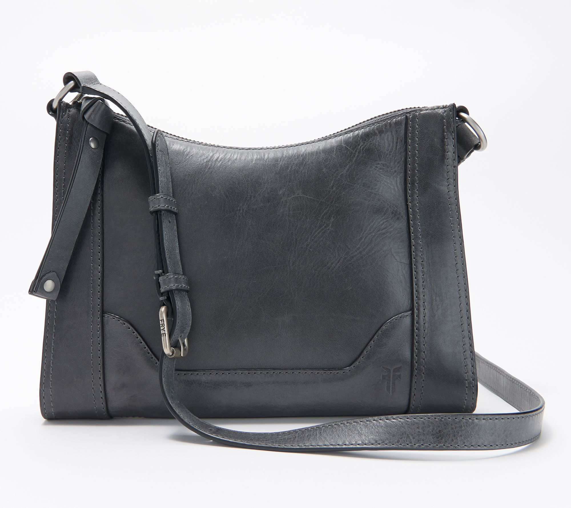 f93cae56b Frye Leather Melissa Zip Crossbody - Page 1 — QVC.com