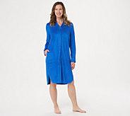 Carole Hochman Rayon Baby Terry Zip-Up Short Robe - A346792