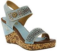 Spring Step LArtiste Leather Wedge Sandals - Allura - A357592