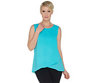 As Is Joan Rivers Soft Crepe Scoop Neck Tank - A366592