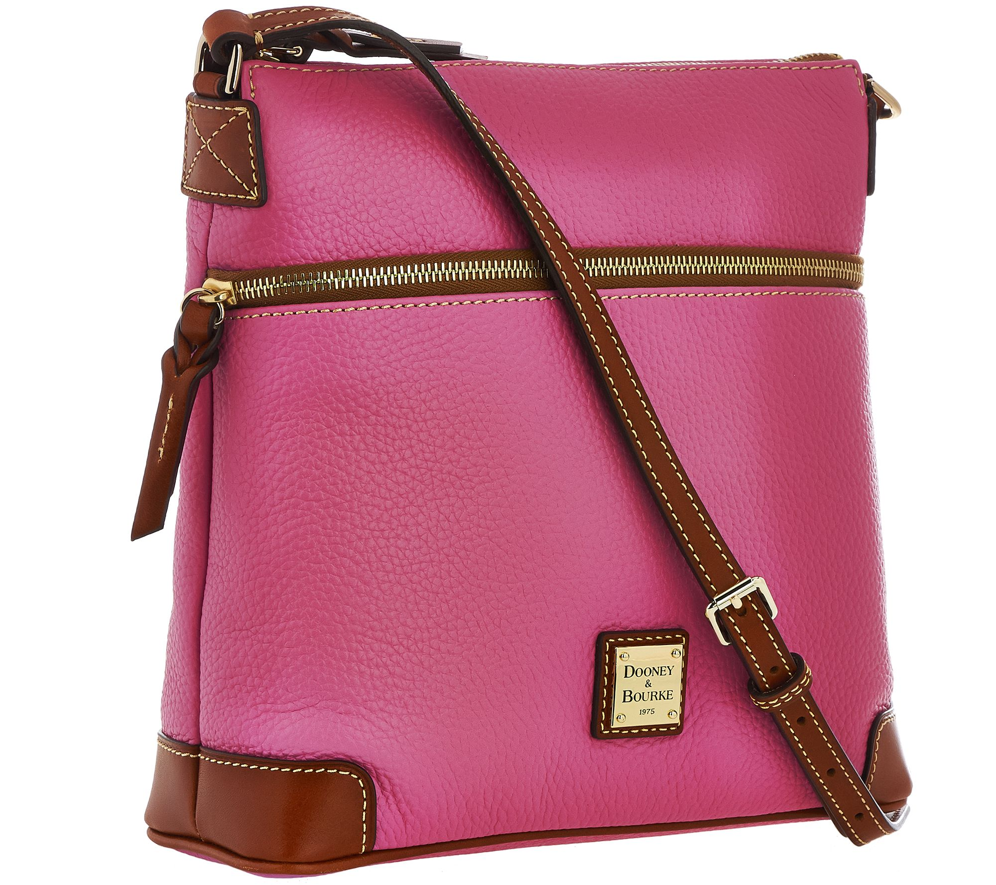 As Is Dooney Bourke Pebble Leather Crossbody Qvc