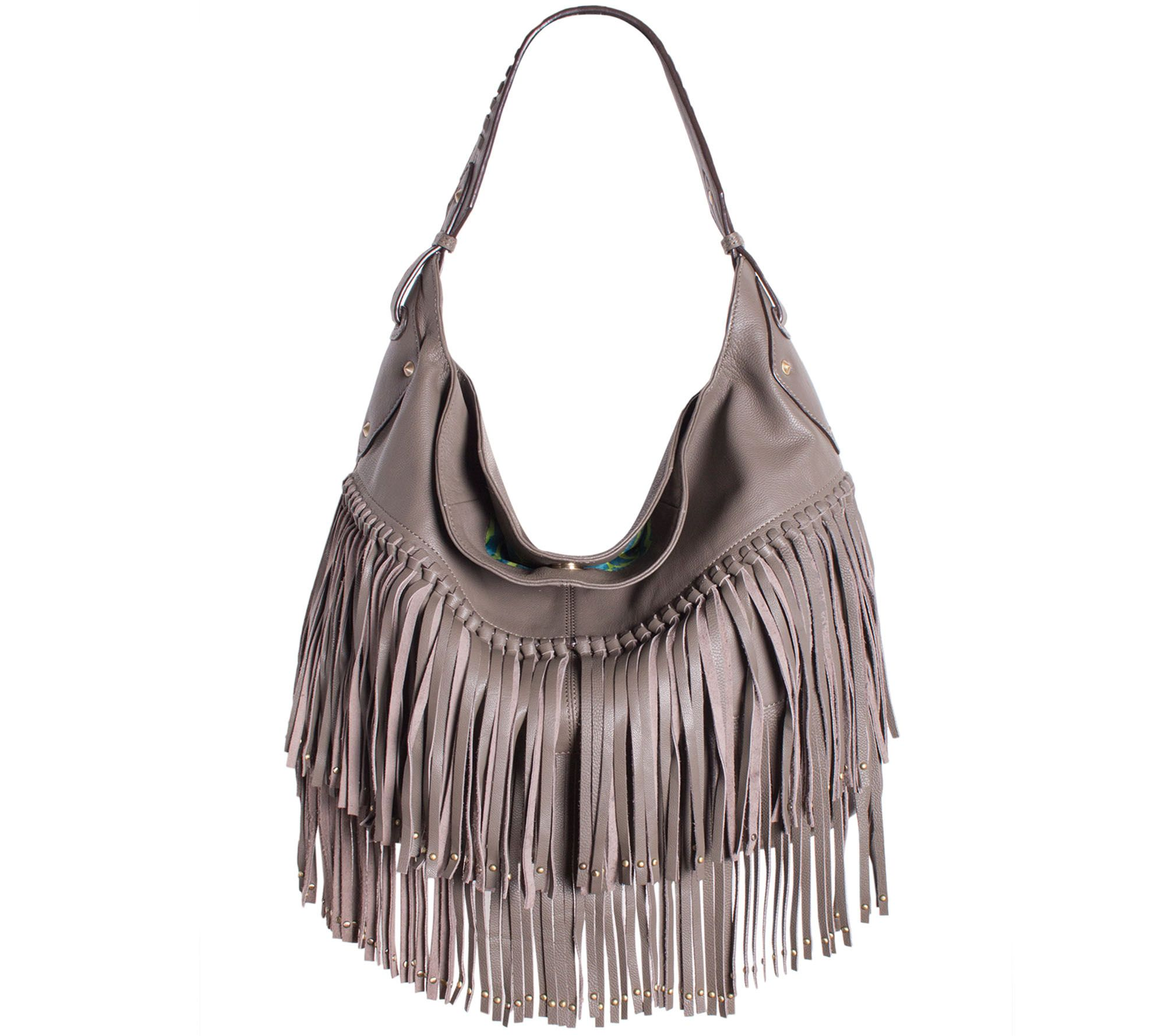 Well-liked orYANY Soft Nappa Leather Fringe Hobo - Stevie - Page 1 — QVC.com GH93