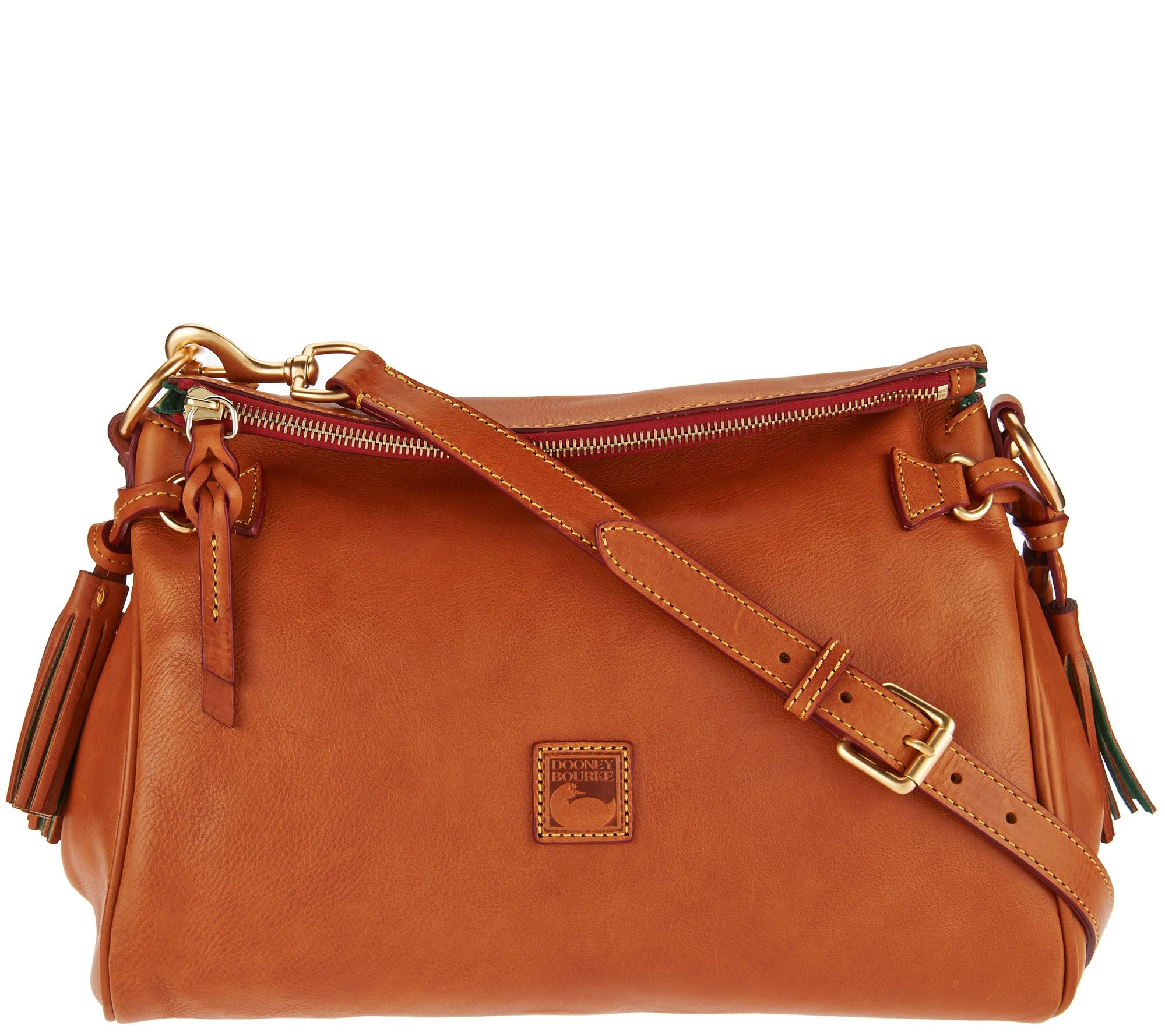 Dooney Bourke Florentine Leather Medium Zip Crossbody Page 1 Qvc