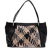 Plinio Visona Intreccio Italian Leather Woven Hobo - A283793