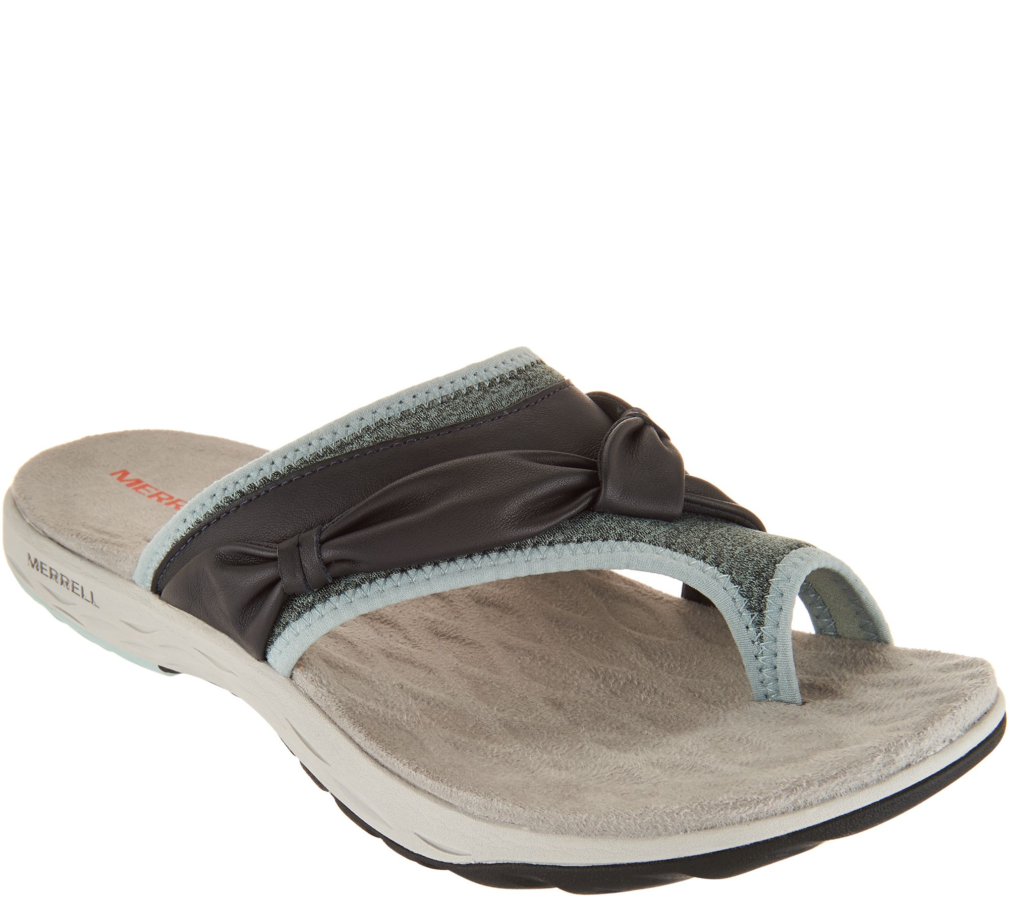 e4558ca5d67e Merrell Leather Sport Thong Sandals - Vesper Thong - Page 1 — QVC.com