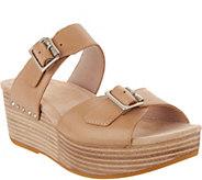 Dansko Leather Wedge Slide Sandals - Selma - A289093