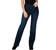 Studio by Denim & Co. Regular Classic Denim Slightly Bootcut Jeans - A296293