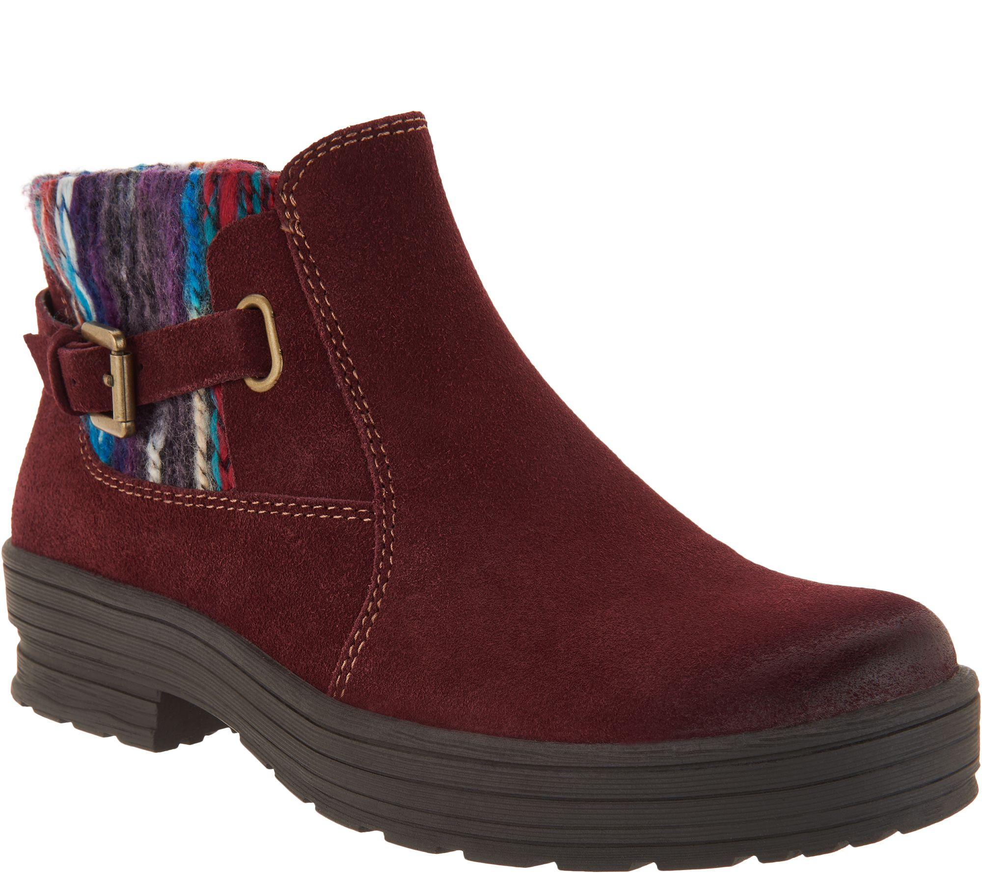 f8437f7cf3d Earth Origins Water Repellent Suede Ankle Boots - Tate — QVC.com