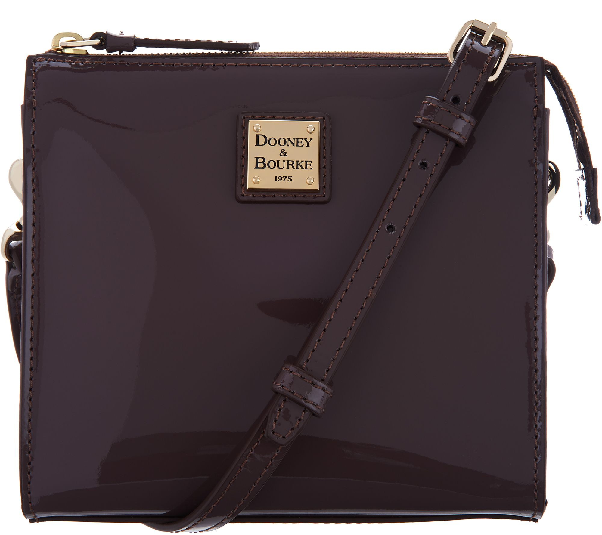 Dooney   Bourke Patent Leather North South Jaime Crossbody - Page 1 —  QVC.com c3369a4aefbe5