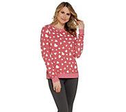 AnyBody Loungewear Printed Hacci Sweatshirt - A302193