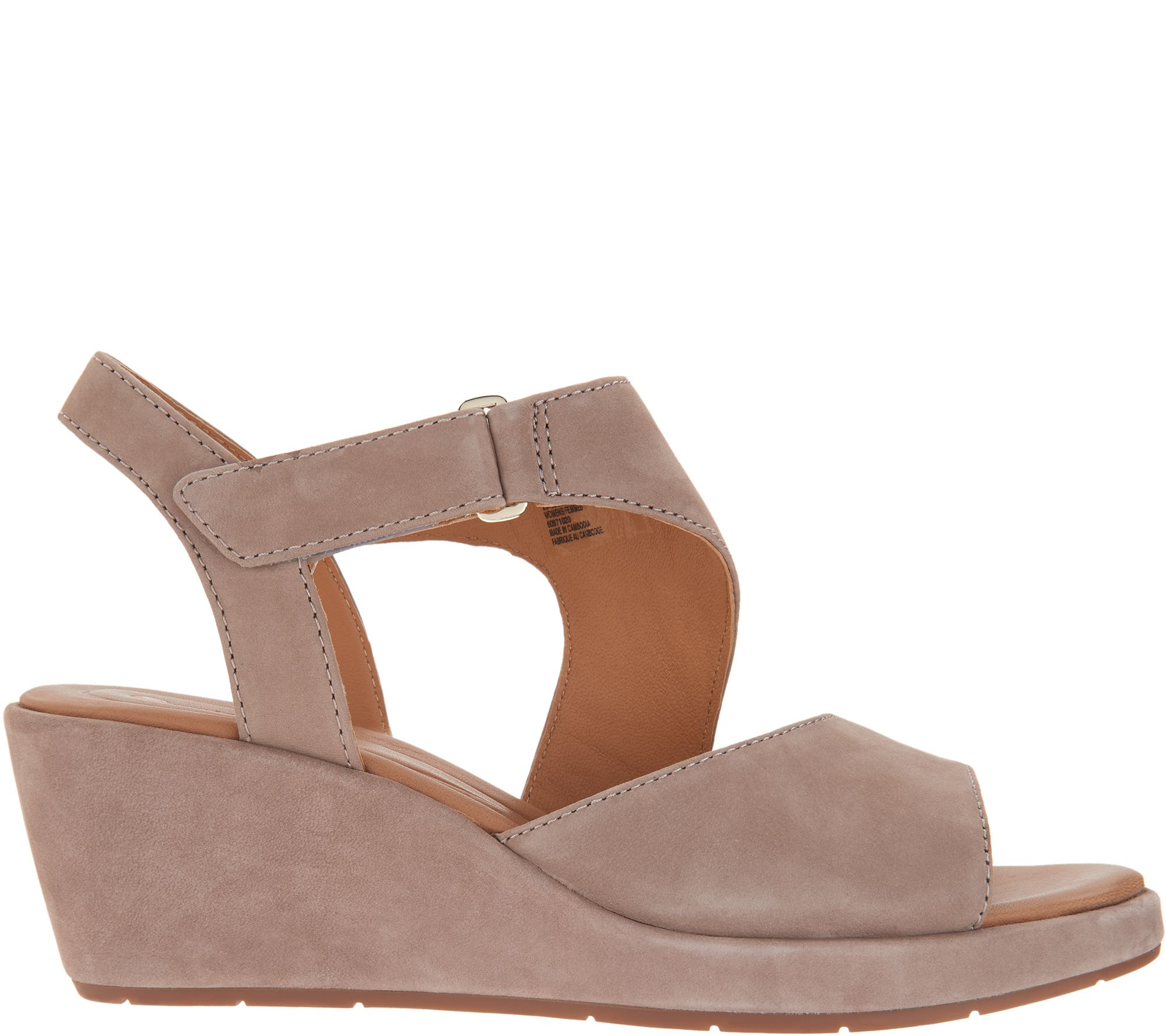6ea26ec4c Clarks UnStructured Leather Wedge Sandals - Un Plaza Sling - Page 1 —  QVC.com
