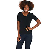 Wicked by Women with Control Essentials V-Neck T-Shirt - A306793