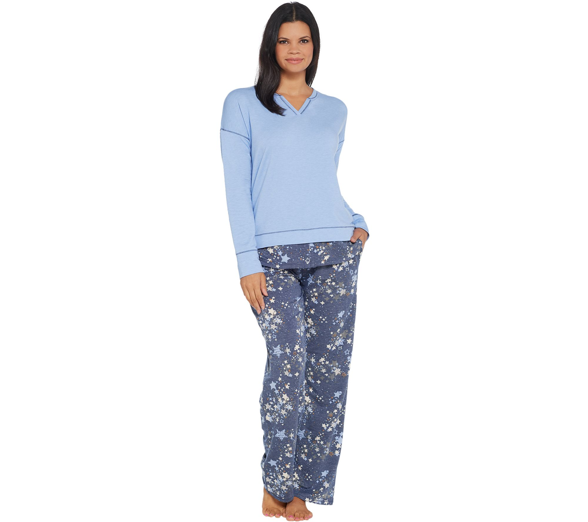486f4544bcd3c Cuddl Duds Comfortwear Novelty Pajama Set - Page 1 — QVC.com