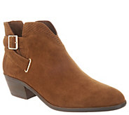 Vince Camuto Suede Exposed Ankle Booties - Panthea - A343293